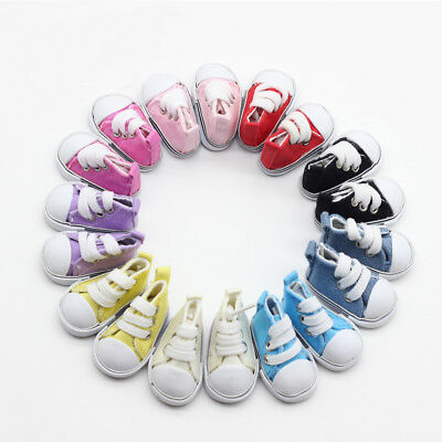 5cm Doll Accessories Sneakers Shoes for BJD dolls,Fashion Mini Canvas Shoes Toy