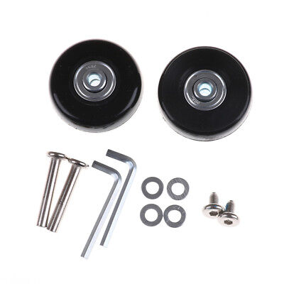 2pcs Luggage Suitcase Replacement Wheels Axles Repair Parts 50*21mm HU