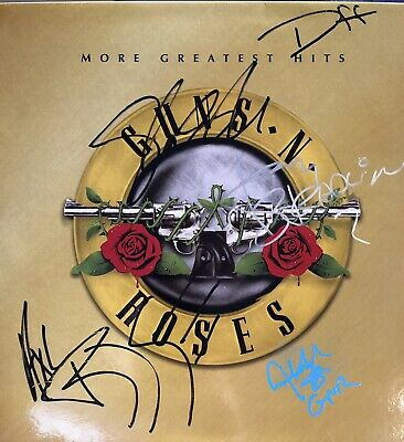 GnR More Greatest Hits LP Originally Autographed By Axl Slash Duff Izzy Adler