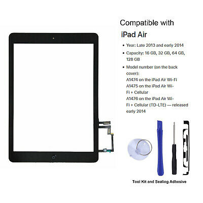 For Apple iPad Air 1st Generation OEM Digitiser Touch Screen Replacement Black