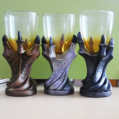 US Game of Thrones Cup Gothic Dragon Claw Glass Holder Wine Goblet Replica Decor