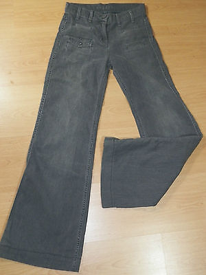 SANDRO Fille 12 ans superbe pantalon jeans jean denim gris  grey trousers