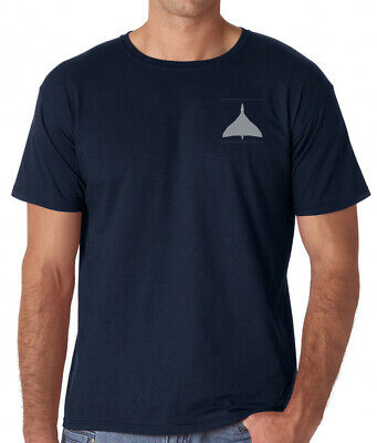 Avro Vulcan Bomber RAF Royal Air Force - Navy Blue Embroidered T-Shirt