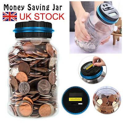 Pound Digital Coin Counter With LCD Display Money Saving Jar Box Counter Counts