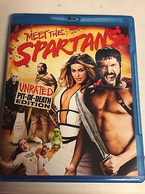 Meet the Spartans (Blu-ray, 2008, Unrated Pit of Death Edition) Not a Scratch!
