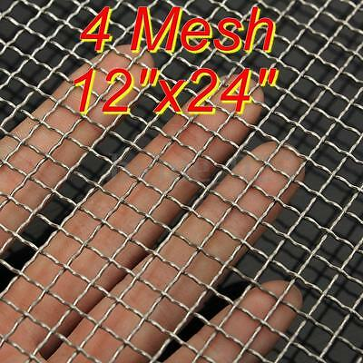 4 Mesh #4 .047 304 Stainless Steel Woven Wire Filtration Filter Sheet 30 x