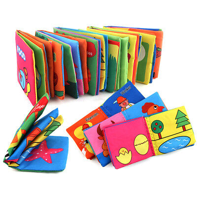1Pc fabric cloth language baby books kids early learning study toy