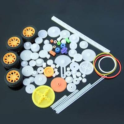 78Pc Plastic Gear Motor Gearbox Toy Robot Model Craft DIY Accessories Four Wheel