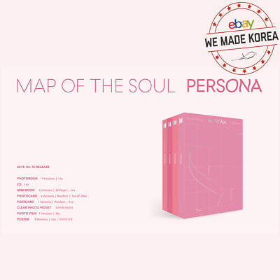 BTS MAP OF THE SOUL:PERSONA Album CD+Photo Card+ETC First Edition Box Packing