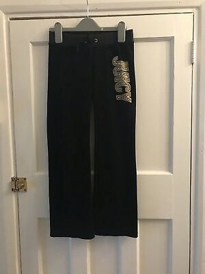 Juicy Couture Girls Black Tracksuit Bottoms Age 8