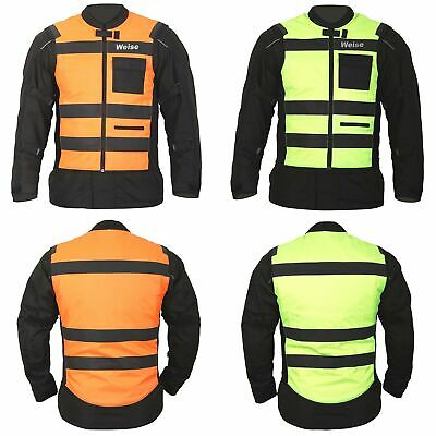 Weise Flare Orange And Yellow Reversible Fluo Motorcycle Motorbike Safety Vest
