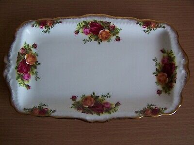 Royal Albert Old Country Roses Rectangle Serving Tray 1st Quality 1962-73