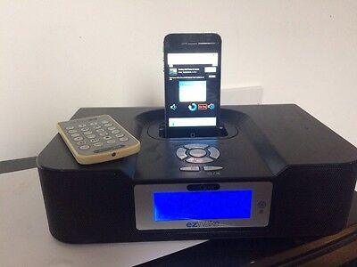 EzGear WK100ON ezWake iPod Alarm Clock Radio with 22 Key Remote Control - Black