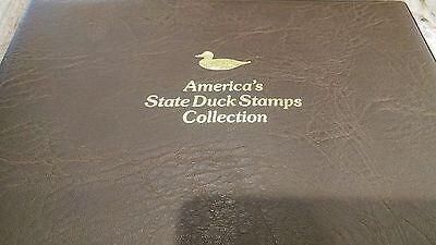 1987 America's State Duck Stamp Collection  Fleetwood, 42 state stamps(+2 extra)
