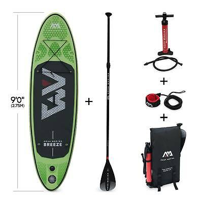 Pack stand up paddle gonflable Breeze 9' avec pompe haute pression, pagaie, lea