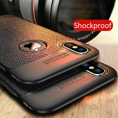 For iPhone 8 7 6 Plus / 6 6s Plus Shockproof Slim Rubber TPU Leather Case Cover