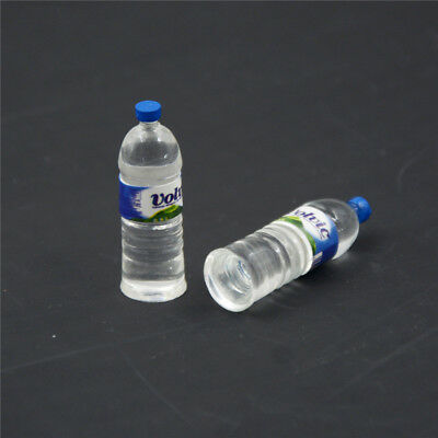 2pcs Bottle Water Drinking Miniature DollHouse 1:12 Toys Accessory Collection KK
