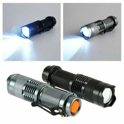 Portable Q5 LED Flashlight Torch Adjustable Lamp 300LM For Outdoor Activity R6