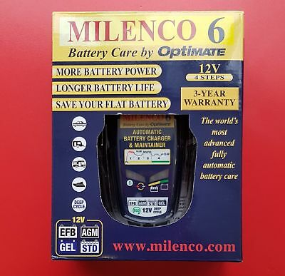 Milenco 6 by Optimate - Multi Step Professional Smart Charger / Maintainer