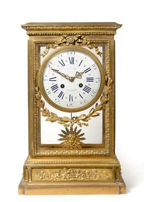 Clock Antique French Ormolu Raingo Freres  Mantle striking J. Mayer Liverpool