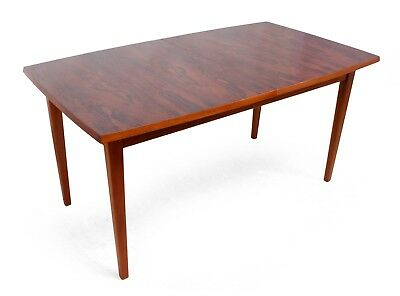 Mid Century Rosewood and Teak Dining Table (923)