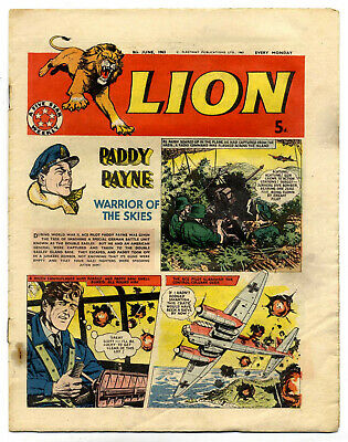 Lion 8th June 1963 (high grade) Captain Condor, Don Lawrence's Karl the Viking