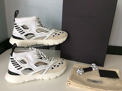 f82e84c039a38 Valentino NEW Rock Stud Sneakers Trainers Size 41 Uk 8 Unisex RRP £685 White