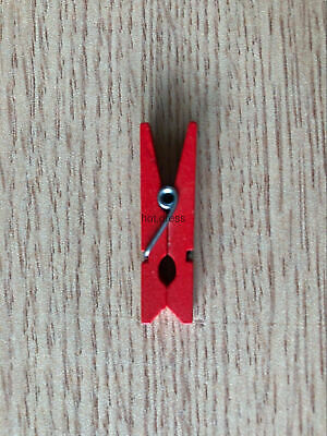 red Small Clip of  Colored Wooden Clamp/Photo Wooden CliP Room 3.5cm*0.8cm
