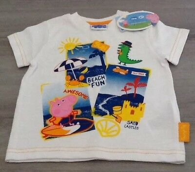 498b3446 Mothercare Peppa Pig Baby Boys Summer T Shirt New With Tags Age 9-12 Months