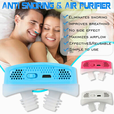 Anti Snore Devices Stopper Air Purifier Sleep Aid Mini Nasal CPAP Nose Machine