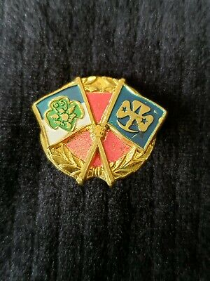 "Vintage 1950's Friendship Girlscout Pin 7/8""wide"