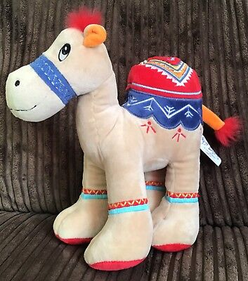 """Camel Fay Lawson Embroidered Plush Soft Toy Beige 9"""""""