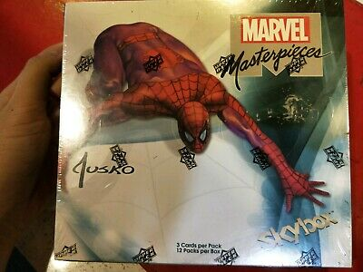 2016 Marvel Masterpieces Joe Jusko 12 pack cards collectable