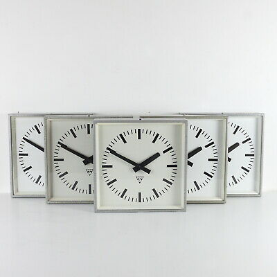 Vintage industrial Pragotron factory clock - 5 available - wall clock