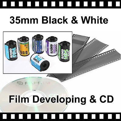 35mm Black & White Film Developing & CD with - 4.5mb Per Photo