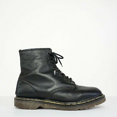 b89a1174106 DR MARTENS MADE In England Black Boots 1460 8 Eyelet Womens 11 Mens 9 UK 10  US
