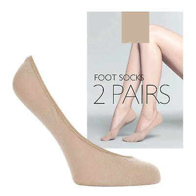 2 PAIRS JOHN LEWIS Nude Invisible Footsies Foot Trainer Socks Thin Shoe Liners