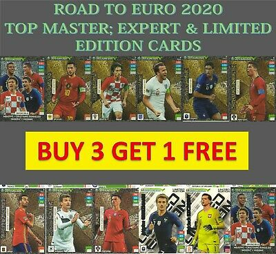 Panini Adrenalyn Xl Road To Euro 2020 Limited Edition Top Master Expert & Rare