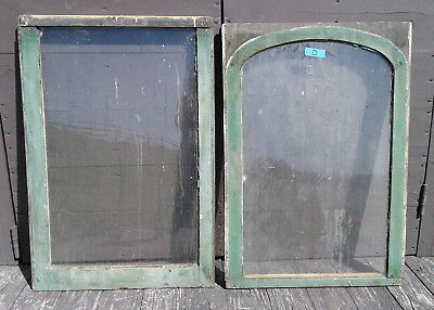 Pair Antique FARM HOUSE WINDOWS 2 Pane Sash Primitive 1880s Architectural Lot D