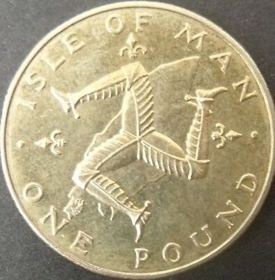1978 Isle of Man IOM Manx £1 Triskeles Over Island Unc One Pound Coin.