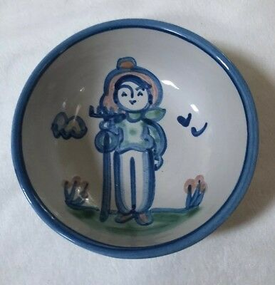 """M A Hadley 5 1/2"""" Small Cereal Fruit Bowl Farmer Vintage Signed"""