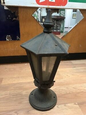Antique Cast Iron Porch Light Fixture