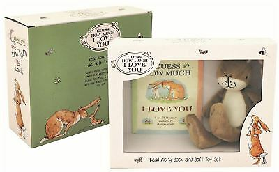 Rainbow Designs GUESS HOW MUCH I LOVE YOU BOOK AND SOFT TOY SET Baby Toys BNIP