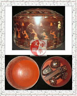 WarringStatesPerios ColorWood POT LACQUERWARE MusicBand DANCER LadyToiletriesBox