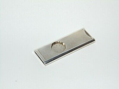 GOOD CONDITION STYLISH WORKING SOLID SILVER CIGAR CUTTER Hallmarked 925 Sterling
