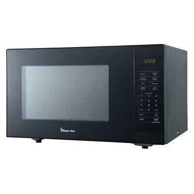 Magic Chef HMM1110B 1.1 Cu. Ft. 1000W Countertop Microwave Oven with Push-Button