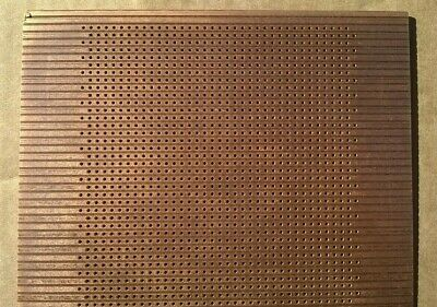 Project Prototype Veroboard, PCB punched hole stripboard.  Copper