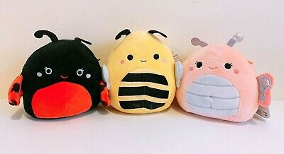 """Kellytoy Squishmallows Bugs Life Collection 5"""" Butterfly Bee Ladybug Plush Doll"""