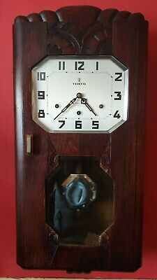 Art Deco Vedette Westminster Chime Wall Clock Full Working Schreck Cherbourg
