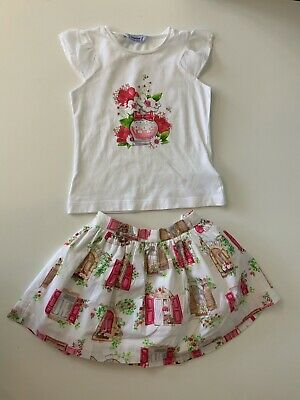 Mayoral Girls Outfit Set Skirt & T Shirt Age 3 Years  Vgc